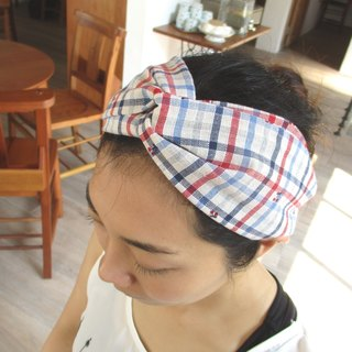 Cross hair band (elastic hand) - Cherry hidden in the grid