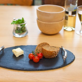 【UK】●Oval Serving Tray with Chilli Handles●  The Just Slate Company
