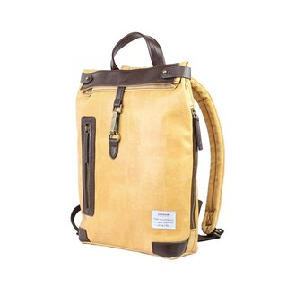 AMINAH- beige huangli backpack [am-0301]