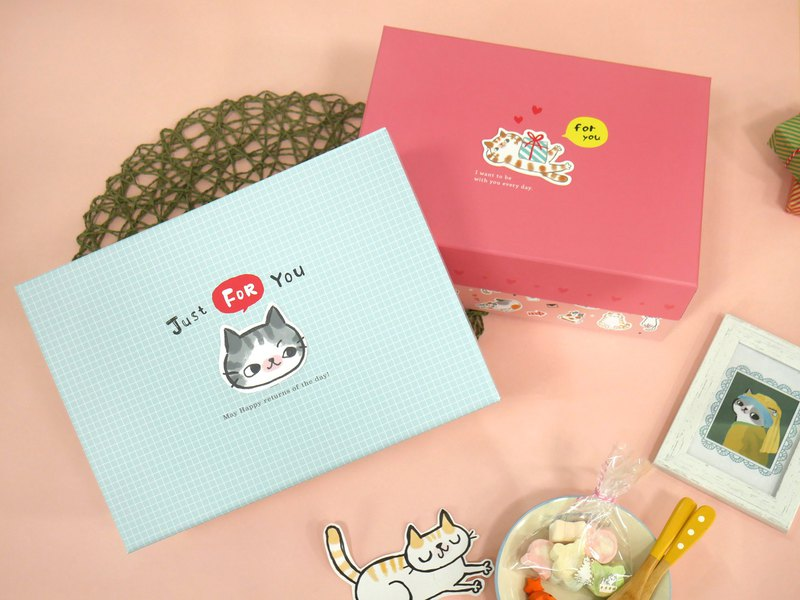 O-CAT-cat upper and lower cover gift box (L)