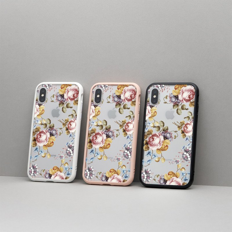 Mod NX Frame Back Cover Dual-use Phone Case / Flowers-Earl Rose for iPhone 11 Series