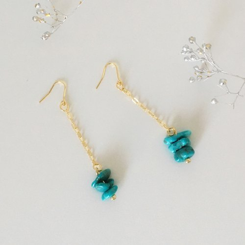 December birthstone trembling turquoise earrings