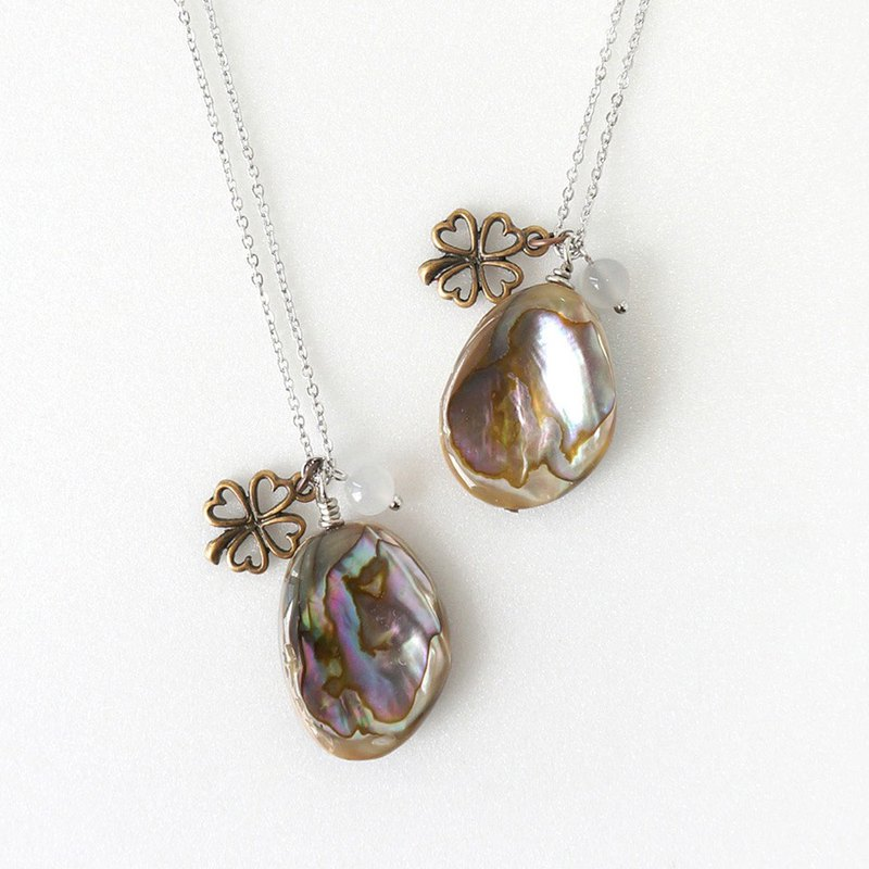 Lucky Abalone Shell Pendant Necklace