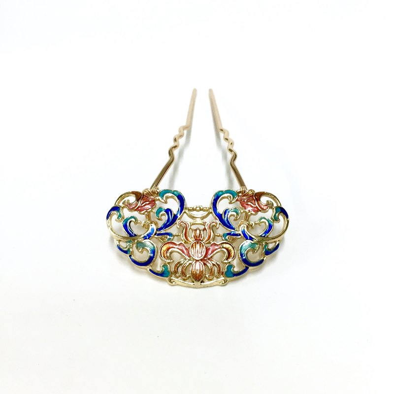 [Box] HL hairpin. Antique hand-made. Bob hollow enamel glaze. Classical Bob. Bob antiquity. Chinese clothing hair accessories.