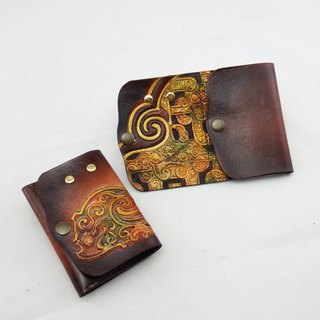 Hand made leather card business card change key package Ji beast figure Christmas activities free packaging