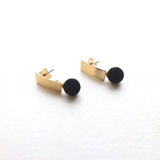 Night-Brass handmade earrings