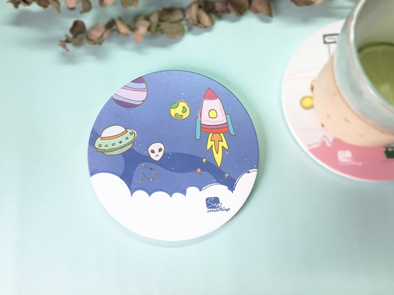 Saysomething Small Universe - Personal Original Ceramic Water Cup Pad