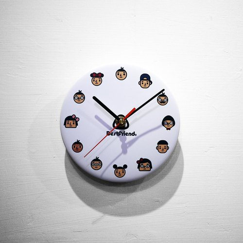 【BestFriend】 Graphic Clock / 01-WHITE / Full Collection - White