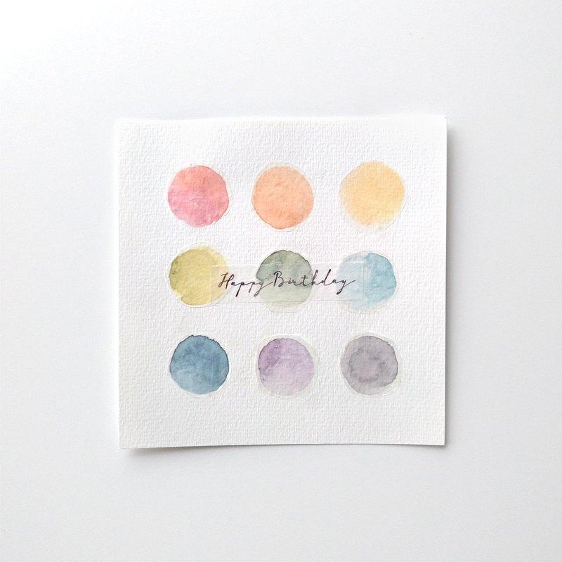 CL懶人系列紙膠帶-圓點12色水彩。3CMX5M