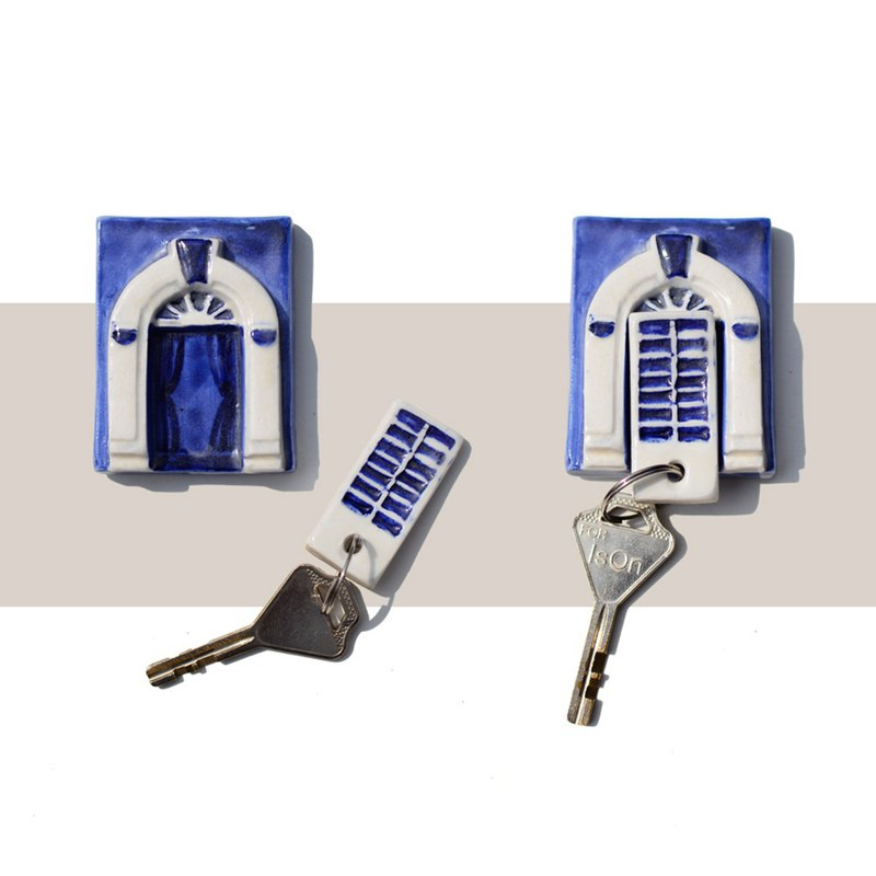 Magnetic ceramic keychain Old Town Collection