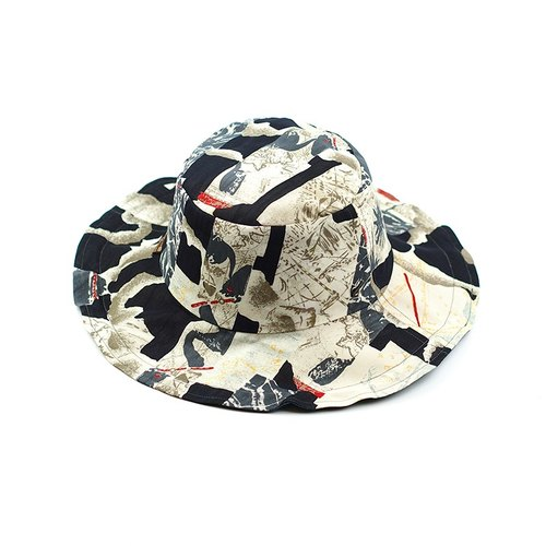Calf Village Calf Village Men's and Women's Handmade Double-sided Hat Customized Gentleman's Hat Neutral Retro {Ancient Greek Sun God} [H-338] Limited Edition