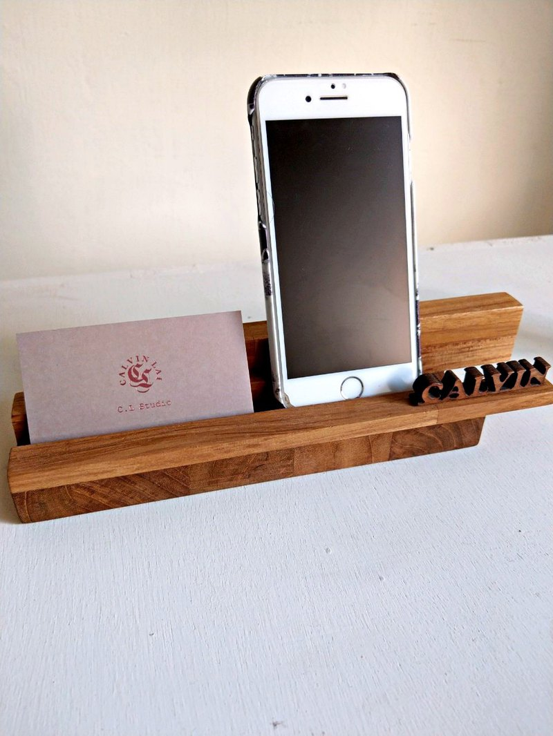 """CL Studio"" [modern simple - geometric style wooden mobile phone holder / business card holder] N53"