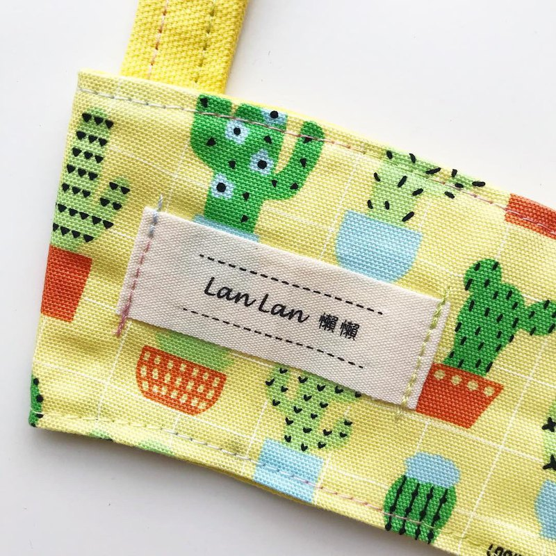 Double-sided beverage bag - Sunshine fleshy cactus