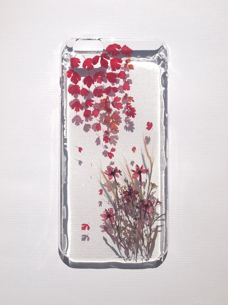 Pressed flower phone case, iPhone6plus and iPhone 6S plus, Lakeside