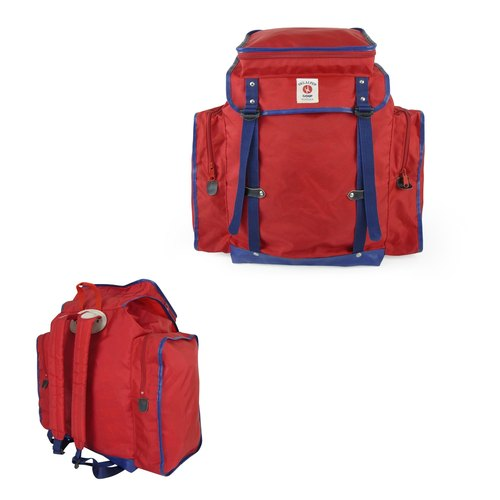 A‧PRANK: DOLLY :: retro VINTAGE retro red blue blue car edge color after climbing backpack