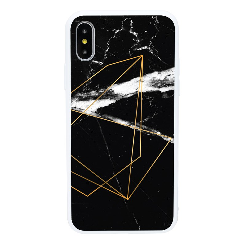 Elegant Black Marble iPhone 6 7 8 Plus X XS XR XSmax Mobile Shell