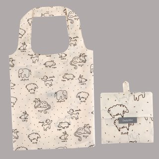 Folding shopping bag shoulder bag L-05 animal graffiti, E2D16043