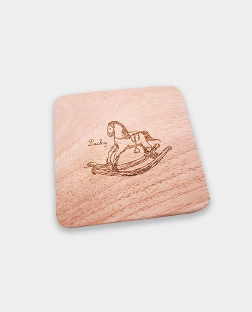 [small box] wooden coaster / oak / gift / home / housewarming / come to the store / corporate gifts