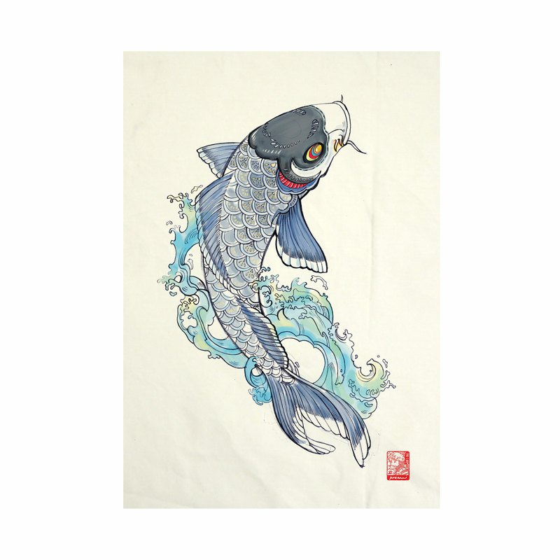 Koi Fabric Art  Canvas No frame