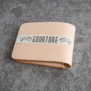 GOURTURE short clip / wallet Italy imported vegetable tanned leather primary color - GWS01