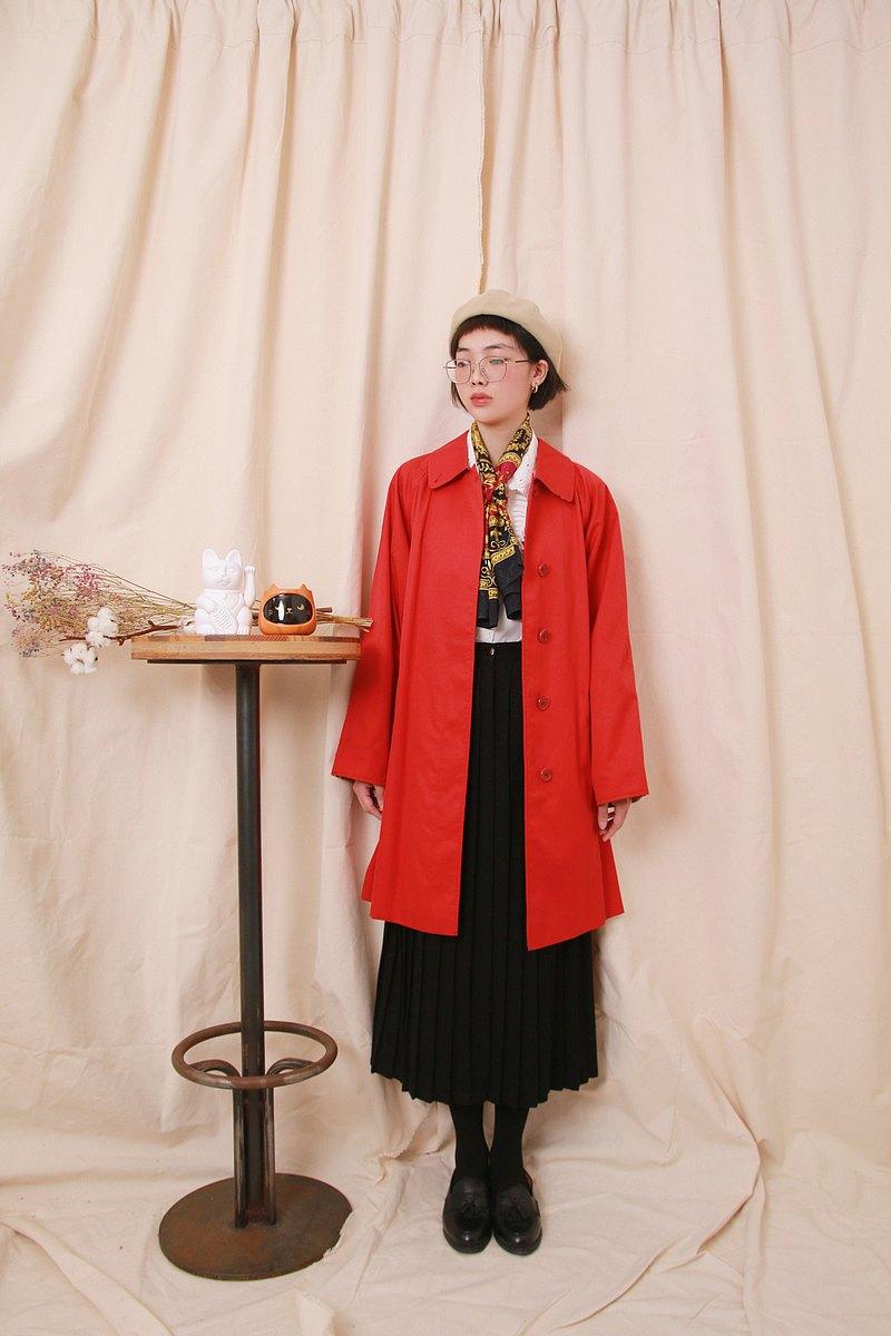 Back to Green:: 風衣外套 BURBERRY 紅 vintage Coat
