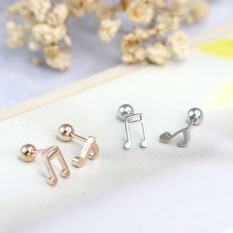 Music Note Studs I 316L Medical Grade Stainless Steel