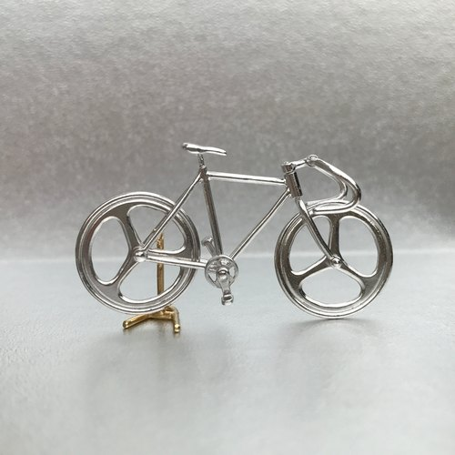 Bicycle pendant Drop handle - Silver