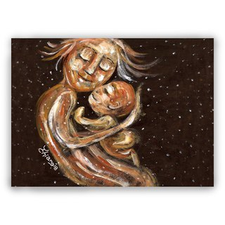 Hand-painted illustration universal card / postcard / card / illustration card - mother and mother love mother mother