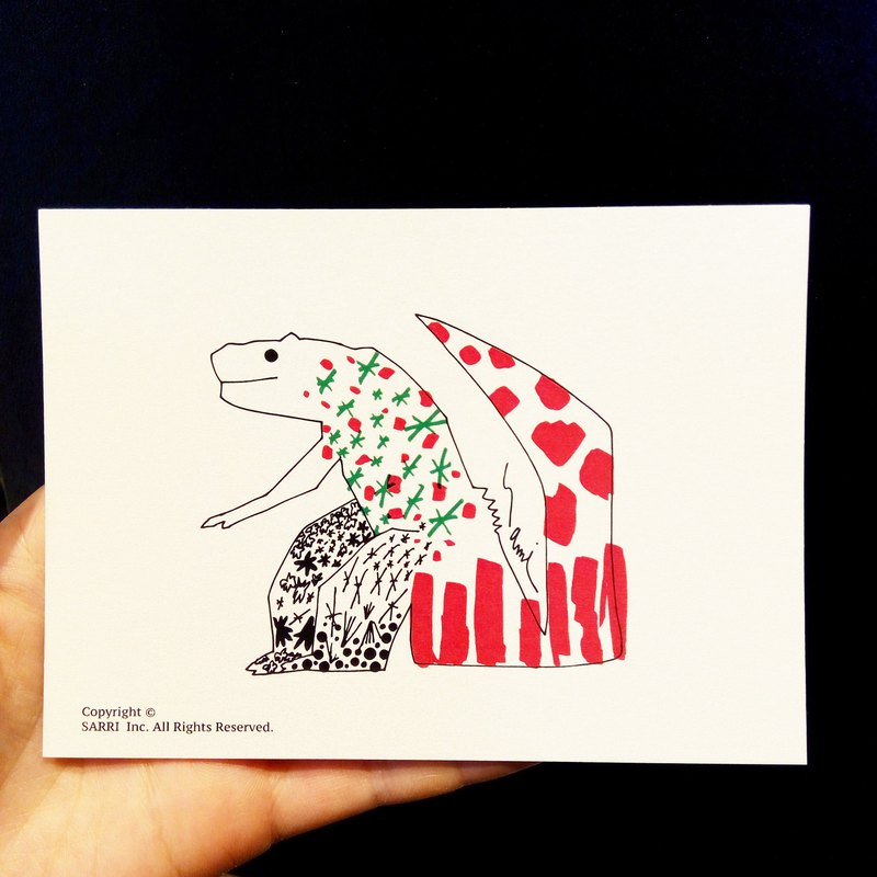 Little Dinosaur (A3-size poster can be made) Birthday Card Design Coloring Illustrator Card This card Universal Card Art Art Modern Lover Love Special Funny Strange Character Strange Lovely Taiwan Yellow Good
