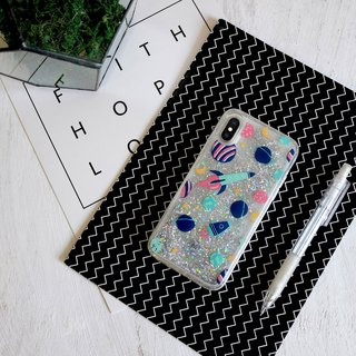 PATTERN LAB | Liquid Glitter Case for iPhone X - Space