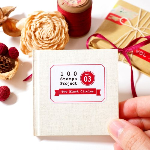 100 Stamps Project - Vol.3 Record Book [Handmade Mini Book]