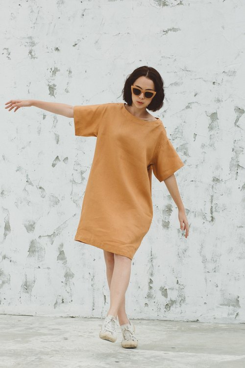 Sun-kissed Loose Dress in Milk Tea