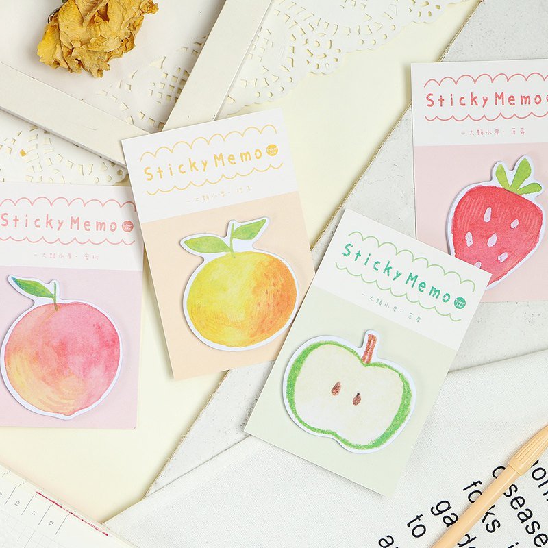 InfeelMe warm air large fruit series sticky notes N times stickers