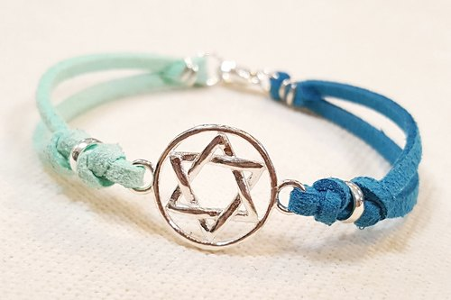 Paris * Le Bonheun. Well hand-made. 925 sterling silver. Hit color knit bracelet bracelet. Hexagram series