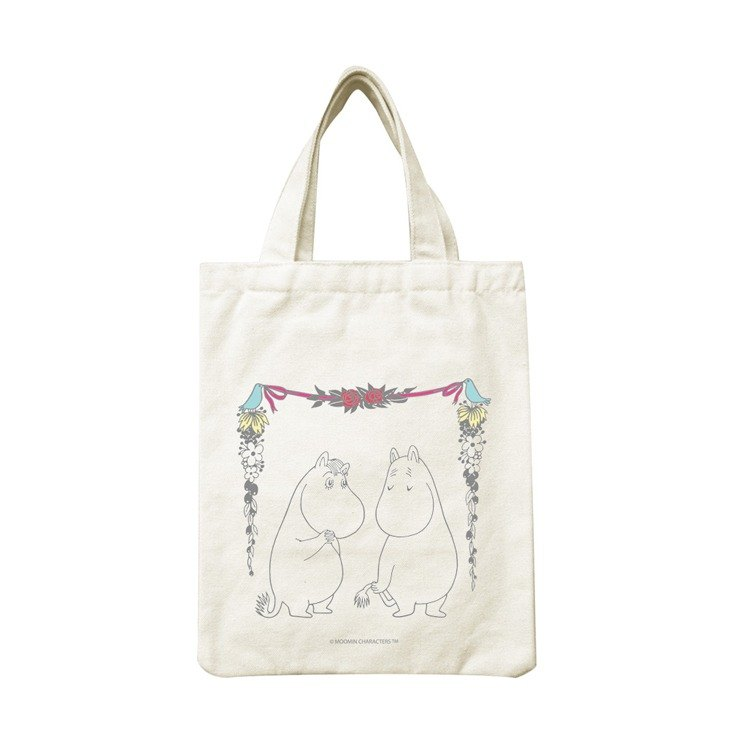 Moomin Lulu meters authorized - portable canvas bag: [love], CA1AE14