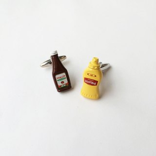 Ketchup and Mustard Cufflinks