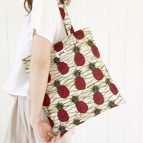 AYA Pine-apple ECO TOTE (Red-Pineapple)