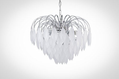 BNL00064- matte diamond ice drops dual suction hanging lamp