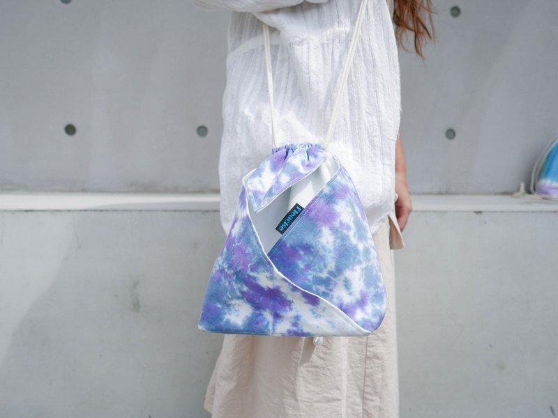Tie dye/handmade/Kimono bag/hand bag/shoulder bag :Purple Cloud: