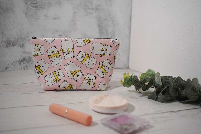 Daily series cosmetic bag/storage bag/limited manual bag/small polar bear/off-the-shelf
