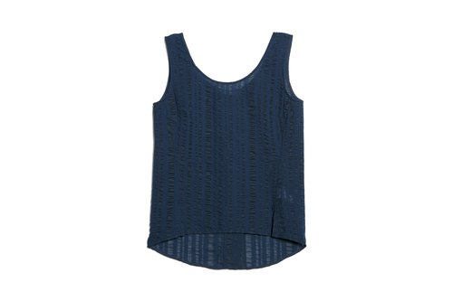 Striped Vest (Light Blue)