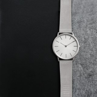THIN 5010 Minimalist Slim Milan Watch - Silver White
