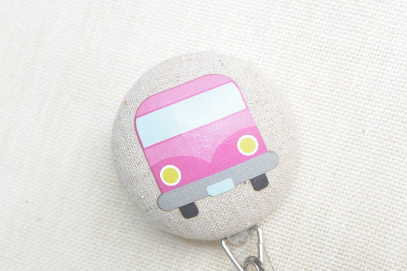 Telescopic handle cloth buckle purse - Bus