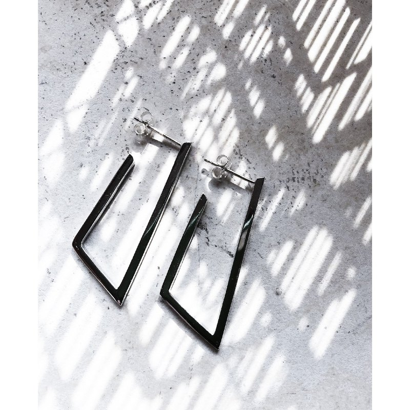 Resonance Ruoyan Ornaments | Static Ladder Structure Earrings | 925 Silver