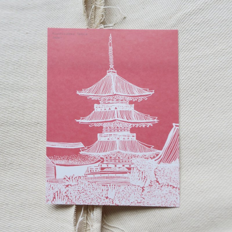 Travel Scenery Japan - Kyoto Kiyomizu-dera / Illustration Postcard