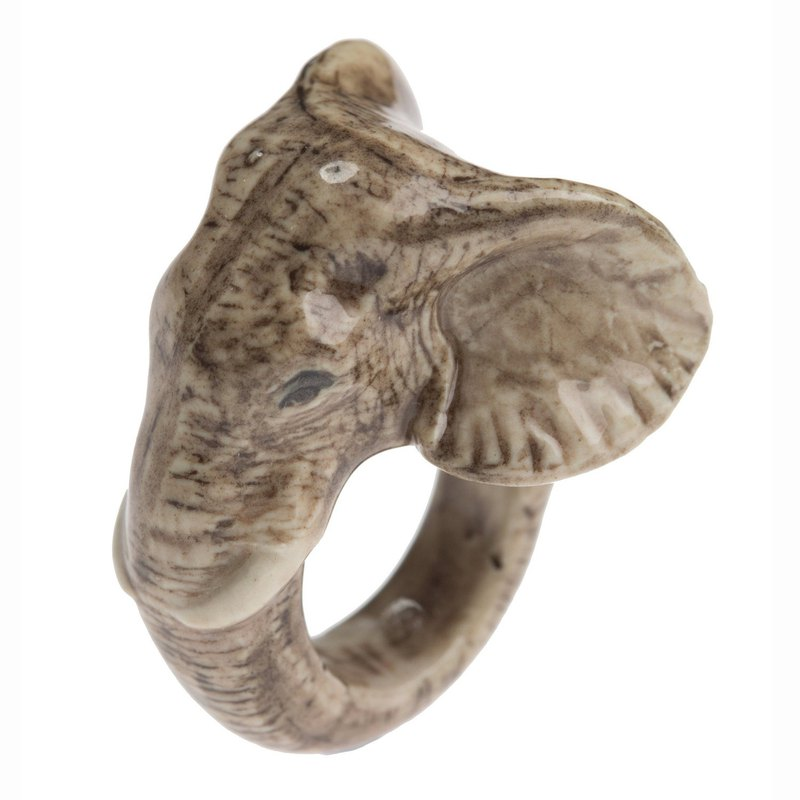 And Mary Elephant Ring | 17.5mm/18.5mm | Gift Box