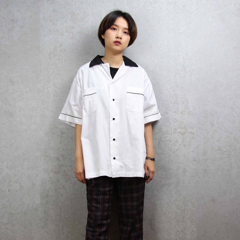 Tsubasa.Y Ancient House Bowling Shirt 015, bowling shirt, short-sleeved shirt, thin shirt