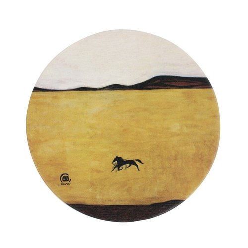 Absorbent coaster - often horses
