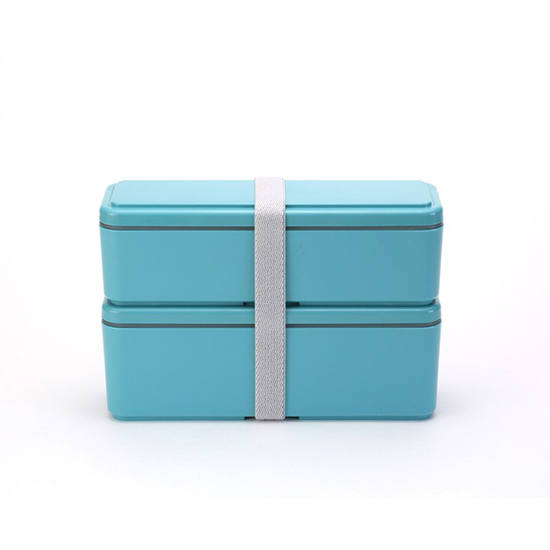 Miyoshi Co., Ltd. GEL-COOL Ladies Series Double Cold Storage Lunch Box M Macaron Blue