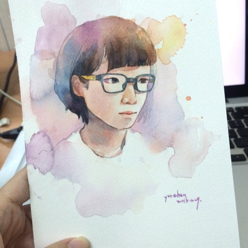 Watercolor portrait illustrator // custom